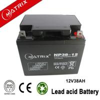 China 12V 38AH Matrix lead acid battery wholesale