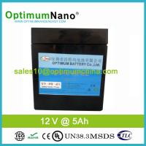 China High Safety Lifepo4 12v 6ah Rechargable Battery , Black Case wholesale