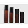 Buy cheap Custom 150ml Amber Matte Plastic Fine Mist Spray Bottle With Black Cover from wholesalers