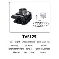 Buy cheap Indian Model TVS 125 Motorcycle Big Bore Cylinder Kits With Anti Corrosion from wholesalers