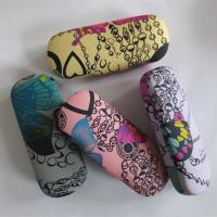 Hot selling fabric printed glasses cases