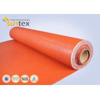 China Texturized Heavy Duty Insulation Silicone Coated Fiberglass Fabric Roll Fireproof wholesale