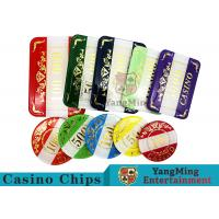 China Casino Style Numbered Poker Chip Set Bright Color With Customized Print Logo for sale