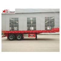 China 2 Axles 30ft 30Ton Flatbed Semi Trailer Leaf Spring Suspension 12R22.5 Tire wholesale