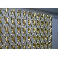 China Aluminum Chain Link Mesh Drapery , Chain Link Fly Screen For Space Partitions wholesale