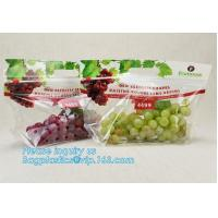 China cpp printed slider zip lock vegetable fruit bag, grape packing bags/ fresh grape packaging bag, food preservation slider wholesale