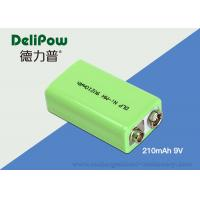 China Environmental Industrial Rechargeable Battery 9v 210mAh For Bicycle Headlight wholesale
