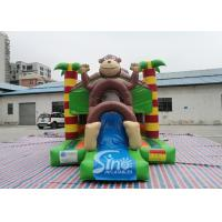 China Outdoor kids commercial jungle monkey inflatable combo in monkey theme park for jumping from Sino factory wholesale
