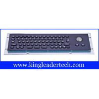 Quality Metallic liquid-proof industrial black kiosk metal keyboard with trackball MKB-66A-TB-MB for sale