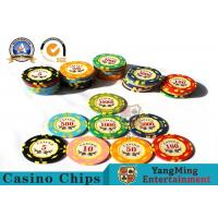 China 11.8g Colorful Casino Poker Chips And Cards / Custom Plaque Stickers wholesale