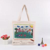 China Handheld Personalised Canvas Tote Bags / Custom Made Promotional Cotton Tote Bags wholesale
