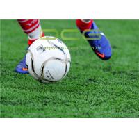 Buy cheap PE Material Football Field Artificial Grass 50mm Pile Height 11000 Dtex from wholesalers