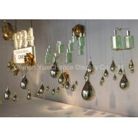 China Electroplated Item Mirror Silver Fiberglass Water Drop Statues Customized Decorations wholesale