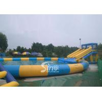 China 15m Dia. Pool Kids N Adults Big Inflatable Water Park On Land For Outdoor Rental Business wholesale
