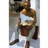 China Interior Landscape Design Life Size Bronze Sitting Man Sculpture wholesale
