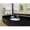 China Black Galaxy Kitchen Granite Slab Countertops Cost Gold Copper Colored Specks wholesale