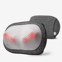 China Back and Neck Massager Electric Massage Pillow with Heating PU Leather and Mesh Cover wholesale