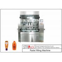 China PLC Control 8 Nozzles Paste Filling Machine , 400G Glass Jam Jar Filling Machine wholesale