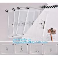 China durable clear PVC Slider zipper stand up bag, 100% oxo boidegradable clear pvc slider zip bags, Frosted plastic bag with wholesale