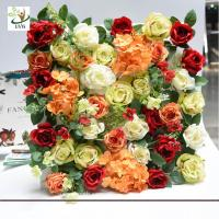 China UVG romantic rose artificial floral wall for photography backdrop art studio backgroudn decoration CHR1143 wholesale