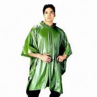 China Waterproof rain poncho, Made of PVC, Customized Logos are Accepted wholesale