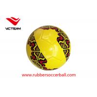 China TPU Hand Stitched Soccer Ball Size 5 with rubber bladder , red and white soccer ball wholesale