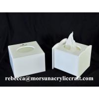 China Cheap price wholesale cubic white acrylic tissue boxes in China wholesale
