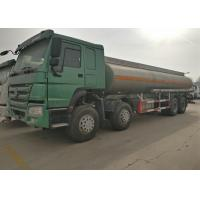 China Four Axles Fuel Tanker Truck SINOTRUK HOWO 30 - 40 Tons For Oil Transportation wholesale