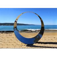 Quality Famous Outdoor Decoration Ring Sculpture Stainless Steel Modern Polished for sale