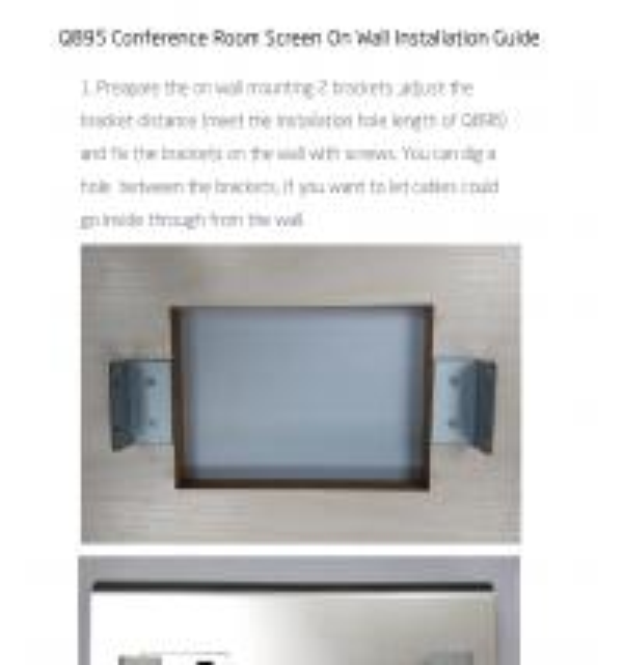 Aluminum POE Tablet Interactive Meeting Room Display