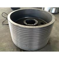 China AISI 1045 AISI 4340 AISI 4140 42CrMo4 34CrMo4 34CrNiMo6 Forged Forging Steel Crusher Belt Pulley Wheels wholesale