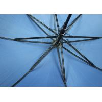 China Custom Branded Promotional Golf Umbrellas With 190T Pongee Fabric , Curved Handle wholesale