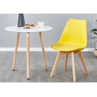 China Beech PU Leather Upholstered Dining Chair 260kg Load Weight wholesale