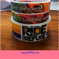 China new design wide hot silicone bracelet band with CMYK printing wholesale