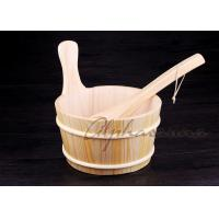 China Made From Spruce Timber 4L Sauna Bucket And Ladle Dry Sauna Room Accessories wholesale