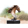 China Handmade Forging Bronze Ferghana Horse Head Garden Statue For Public Decoration wholesale