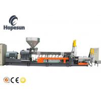 China Pet Bottle Flakes Twin Extruder Machine Plastic Recycling Granulating wholesale