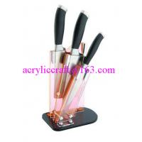 China Clear acrylic knife display stand / plastic knife holder / acrylic knife rack wholesale