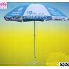 China Steel Frame Business Logo Umbrellas Beer Outdoor Beach Umbrella 90cmx8k wholesale