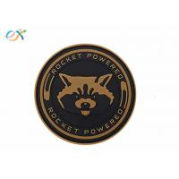 China Morton Home Rocket Powered PVC Rubber Patch Tactical Military Badge Hook Back Type wholesale