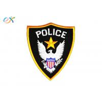 China Polyester Background Fabric Police Embroidered Patch With Merrowed Edge wholesale