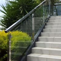 China Low Price Stainless Steel Hardware Good Quality Square Pipe Side Mounted Modern Design Glass Railing wholesale
