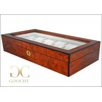 China 12 Audemars Piguet Wooden Watch Display Case / Grey Interiors / Gold Lock Hinges wholesale