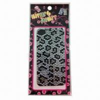 China 2012 Fashionable Mobile Phone Stickers, Measures 16x8cm wholesale