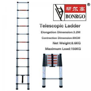 China Extendable 10.5ft 11 Step Aluminium Telescopic Ladder wholesale