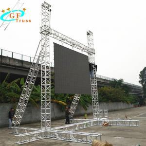 China Triangle Uniform Stress Aluminum Spigot Truss 4m Length wholesale