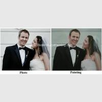 China Canvas Custom Oil Painting Portraits From Photographs Hand Painted Wedding Portraits wholesale