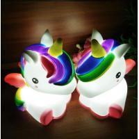 Buy cheap Light Up Unicorn 7 LED Colors Change Shine Night Light Novelty Toy For Kids from wholesalers