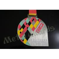 China BJJ Logo Zinc Allaoy Custom Sports Medals With Sublimated Ribbon Die Cast  Process wholesale