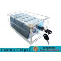 Acrylic Casino Game Accessories Dealers Card Holder For 6 Decks Playing Cards for sale